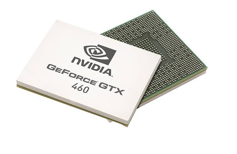 Bild des Grafikchips GF104 für die Geforce GTX 460